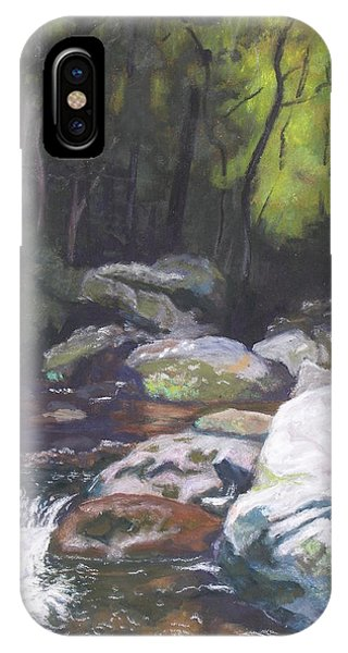 Mountain Stream At Dusk IPhone Case