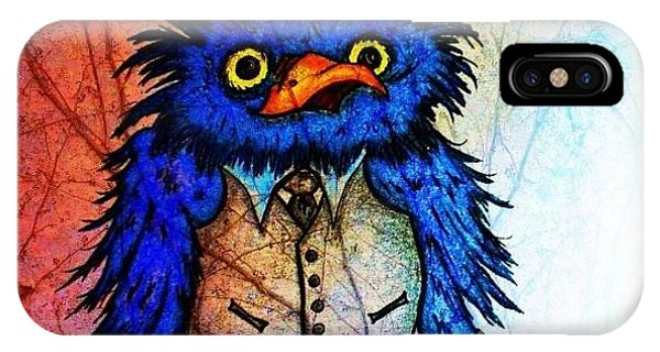 Mr Blue Bird IPhone Case