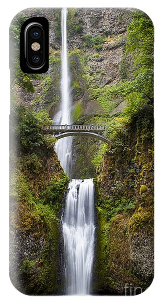 IPhone Case featuring the photograph Multnomah Falls by Brian Jannsen