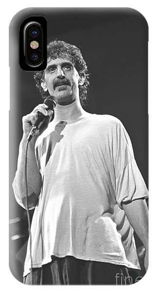 Frank Zappa iPhone Case - Musician Frank Zappa by Concert Photos