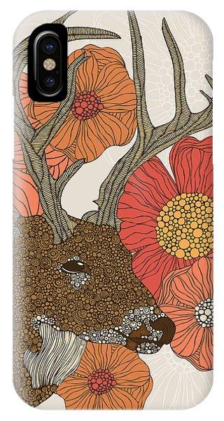 Fall Flowers iPhone Case - My Dear Deer by Valentina Ramos