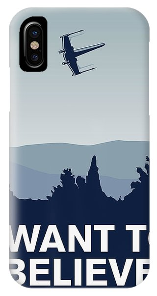 Doctor iPhone Case - My I Want To Believe Minimal Poster-xwing by Chungkong Art