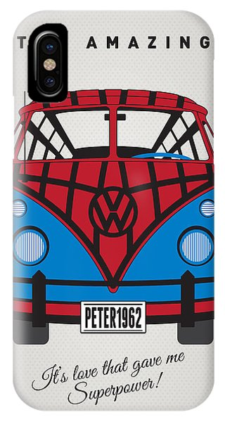 Freed iPhone Case - My Superhero-vw-t1-spiderman by Chungkong Art