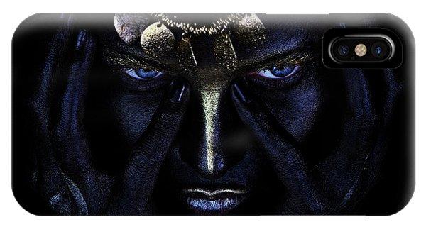 Dark Blue iPhone Case - Nagual's Wind. by Ivan Kovalev