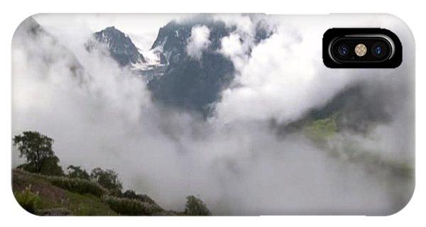 Simple iPhone Case - Nanda Devi Peaks On Mount Himalaya North India  by Navin Joshi
