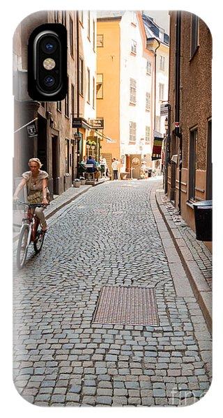 Narrow Stockholm Street Sweden IPhone Case
