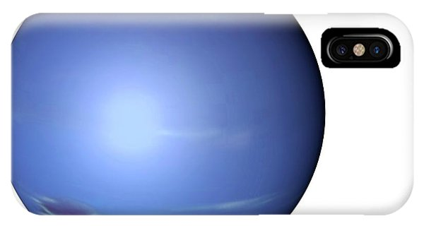 Cutout iPhone Case - Neptune From Space by Mikkel Juul Jensen
