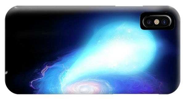 Neutron Star And White Dwarf Merging IPhone Case