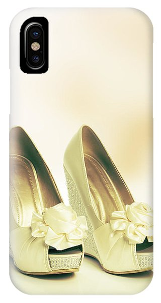 Bridal iPhone Case - New Wedding Sandals by Amanda Elwell