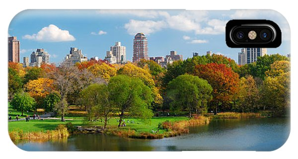 New York City Manhattan Central Park Panorama IPhone Case