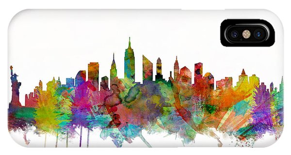 City Scenes iPhone Case - New York City Skyline by Michael Tompsett