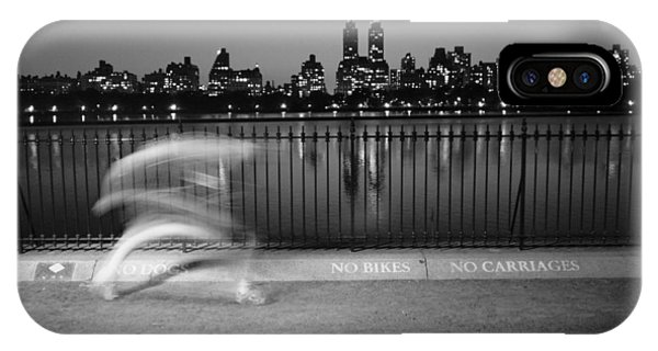 Night Jogger Central Park IPhone Case
