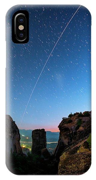 Night Sky Over Meteora Phone Case by Babak Tafreshi