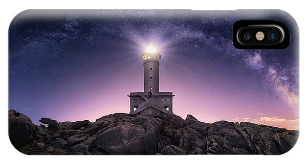 Lighthouse iPhone Case - Night Watcher by Carlos F. Turienzo