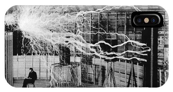 Nikola Tesla Serbian-american Inventor IPhone Case