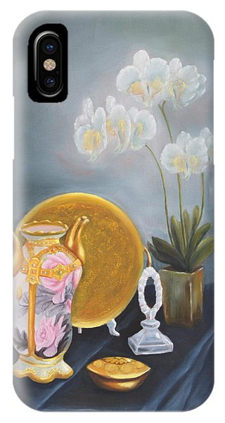 Lid iPhone Case - Nippon And Orchids by Lou Magoncia