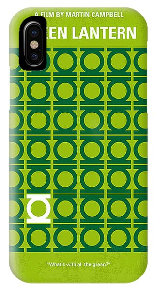 Green iPhone Case - No120 My Green Lantern Minimal Movie Poster by Chungkong Art