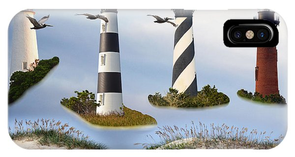 North Carolina's Rt. 12 Lighthouses IPhone Case