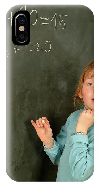 Classroom iPhone Case - Numeracy by Cc Studio/science Photo Library