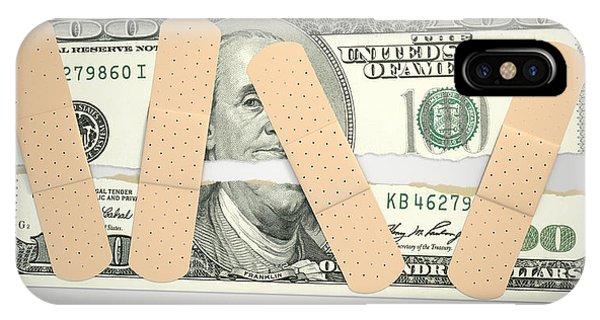 Equal iPhone Case - Nursed Torn Us Dollar by Allan Swart