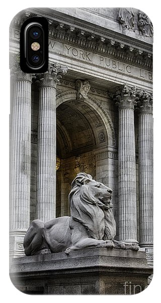 Ny Library Lion IPhone Case