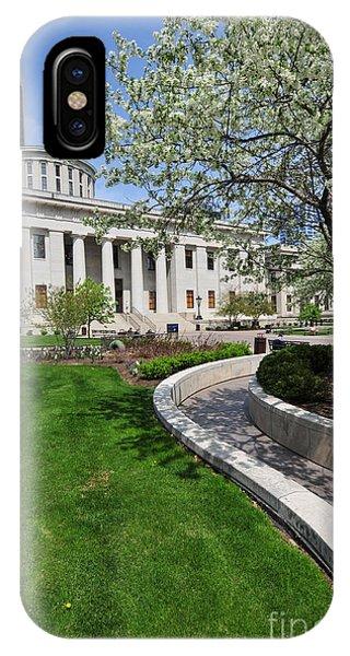 D13l-145 Ohio Statehouse Photo IPhone Case