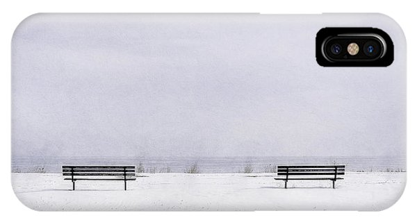 Park Bench iPhone Case - Old Friends by Scott Norris