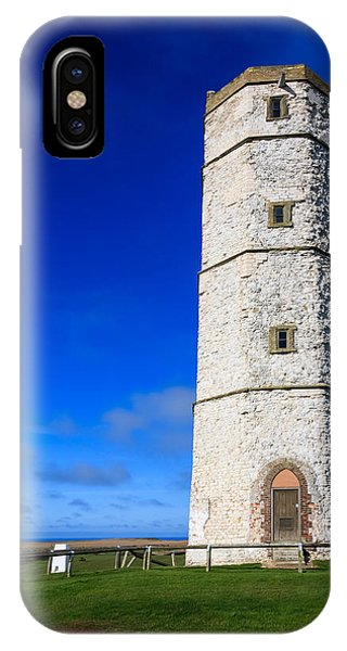 IPhone Case featuring the photograph Old Lighthouse Flamborough by Susan Leonard