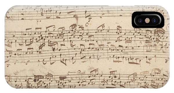 Old Music Notes - Bach Music Sheet IPhone Case