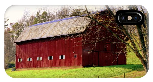 New England Barn iPhone Case - Old Red by Karen Wiles