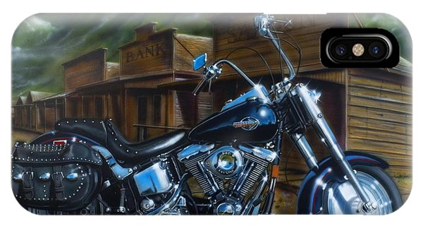 Airbrush iPhone Case - Old West Fat Boy by Timothy Scoggins