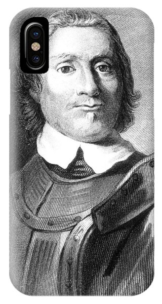 King Charles iPhone Case - Oliver Cromwell by Collection Abecasis