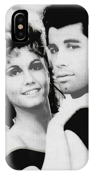 Olivia Newton John And John Travolta In Grease Collage IPhone Case