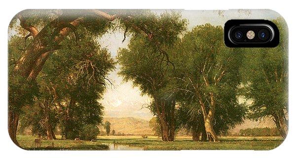 On The Cache La Poudre River Colorado IPhone Case