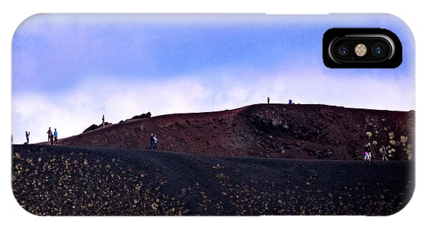 Mt Etna iPhone Case - On The Crater - Sicily by Madeline Ellis