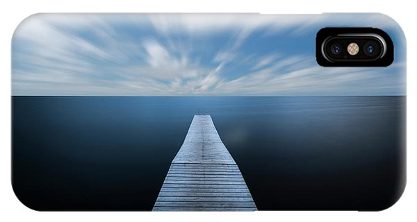 Simple iPhone X Case - On The Edge Of The World by Christian Lindsten