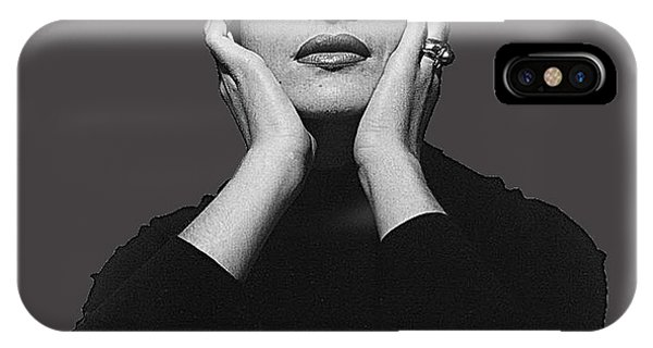 Opera Singer Maria Callas  Cecil Beaton Photo No Date-2010 IPhone Case