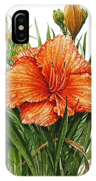 Orange Lily IPhone Case