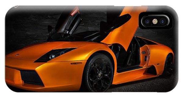 Orange Murcielago IPhone Case