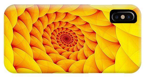 Yellow Pillow Vortex IPhone Case
