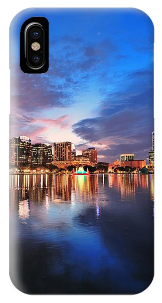 Orlando Downtown Dusk IPhone Case