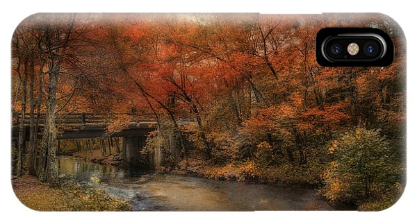 New England Fall Foliage iPhone Case - Over The River by Robin-Lee Vieira