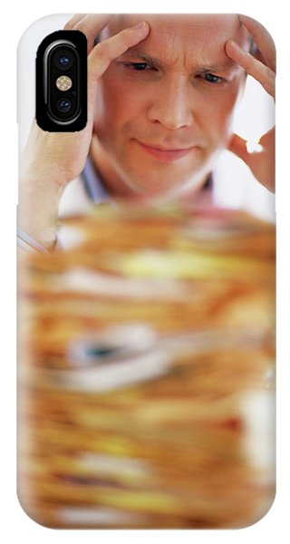 Overworked Doctor Phone Case by Ian Hooton/science Photo Library