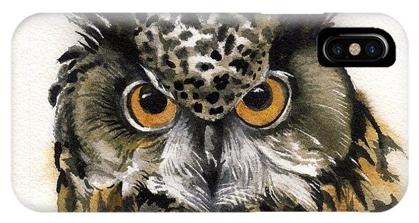 Owl Watercolor IPhone Case