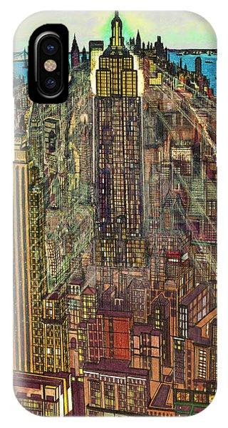 New York Mid Manhattan 1971 IPhone Case