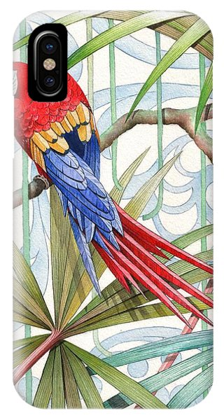 Macaw iPhone Case - Parrot, 2008 by Jenny Barnard