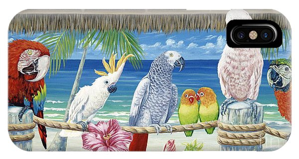 Parrots iPhone Case - Parrots In Paradise by Danielle  Perry