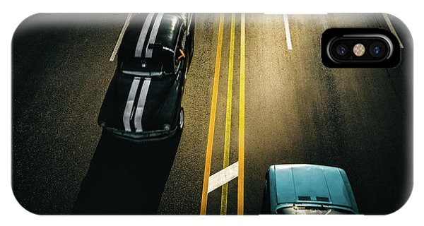Car iPhone Case - Passing Cars by Yancho Sabev