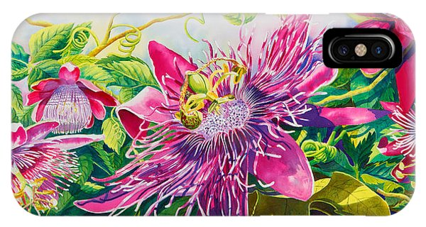 Passionflower Party IPhone Case