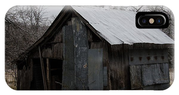 Patchwork Barn With Icicles IPhone Case